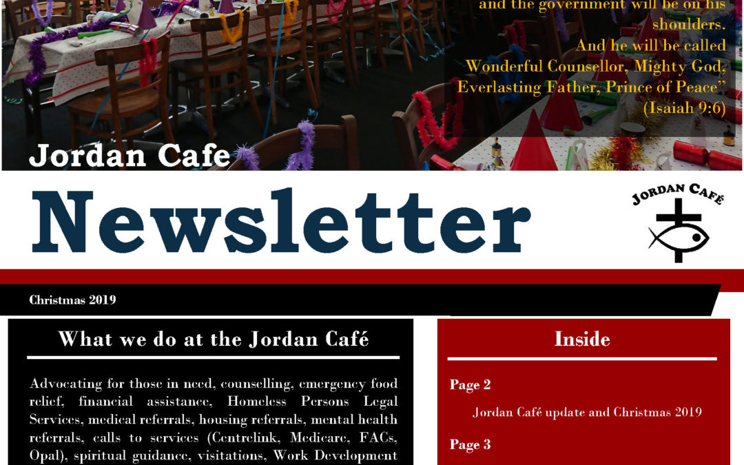Jordan Cafe Christmas Newsletter